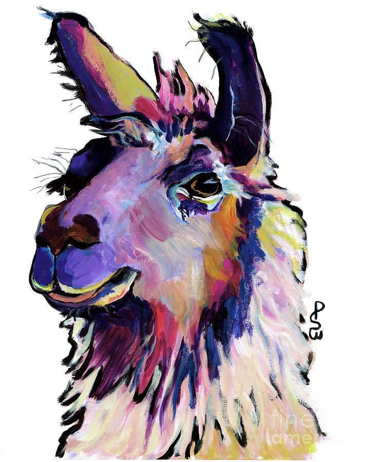 Llama Painting - Fabio by Pat Saunders-White