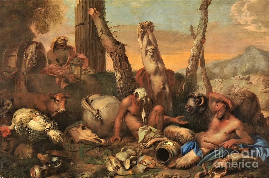 Fable Of Diogenes Painting