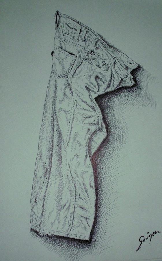 Pants Drawing - Fac Fidelis by SAIGON De Manila