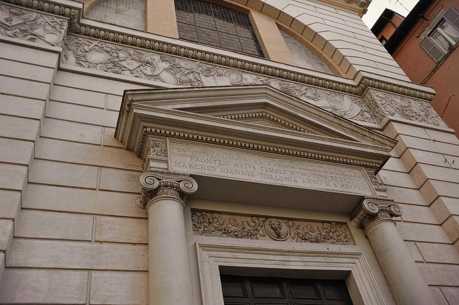 Italy Photograph - Facade Frieze by JAMART Photography
