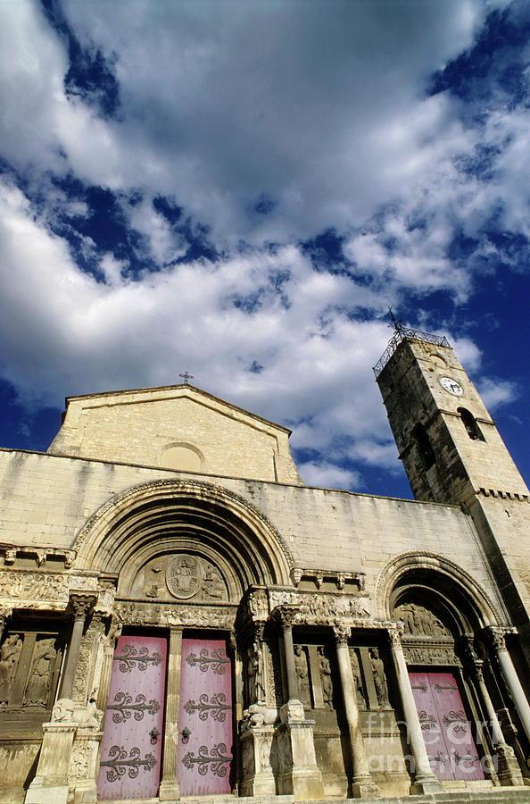 Abbey Photograph - Facade Of A Benedictine Monastery In Saint-gilles by Sami Sarkis