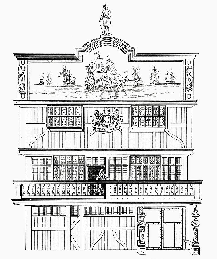 Facade Of The Old East India House Drawing By Vintage Design Pics
