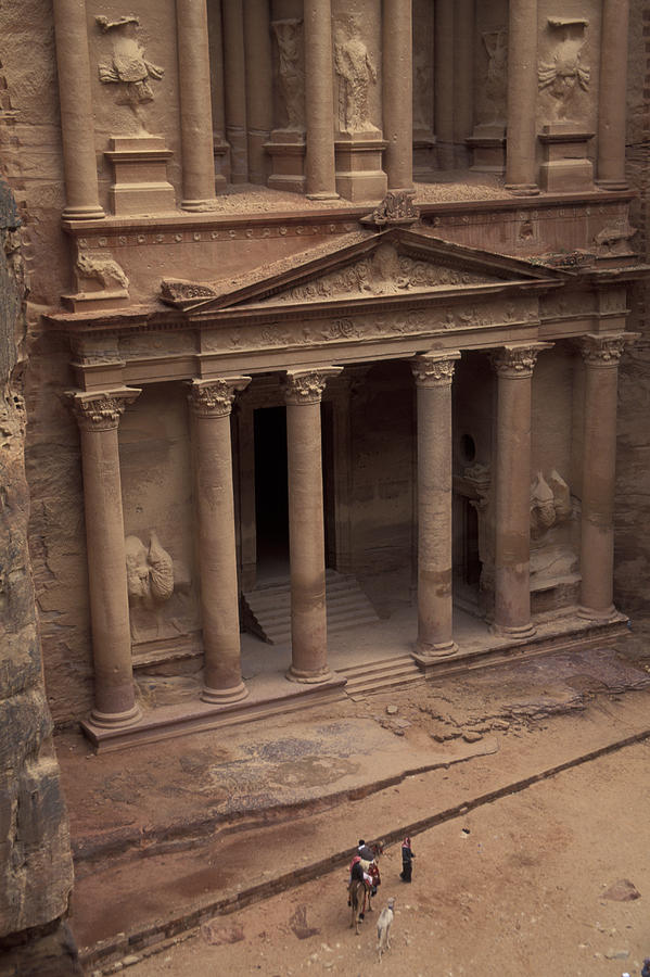 Petra Photograph - Facade Of The Treasury In Petra, Jordan by Richard Nowitz