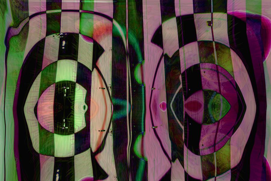 Face To Face Digital Art - Face 2 Face by Linda Sannuti