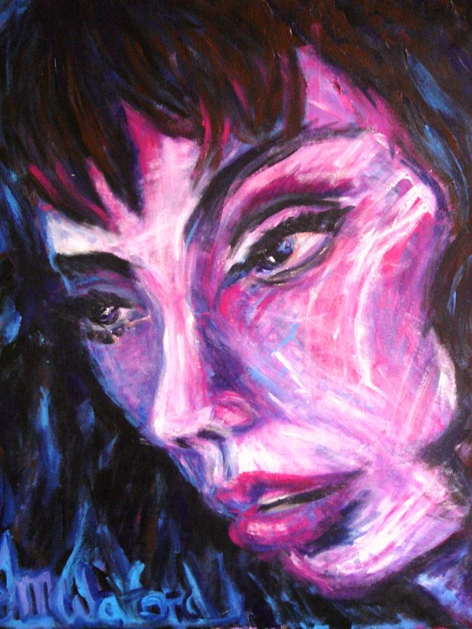 Portrait Painting - Face Down by Jenni Walford