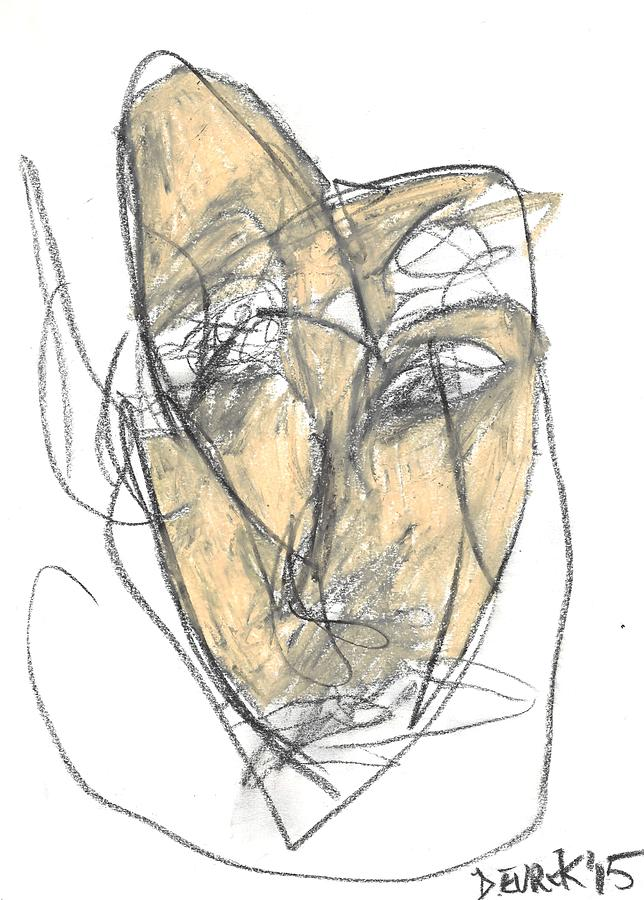 Abstract Drawing - Face by Drew Eurek