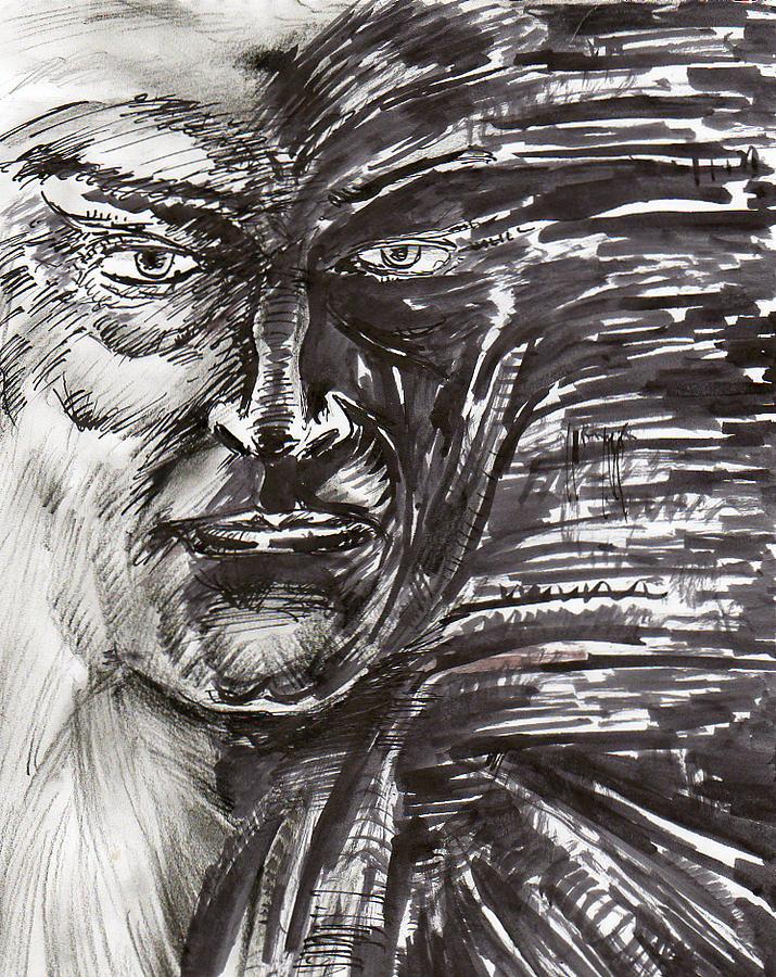Face Drawing - Face by Joaquin Maldonado