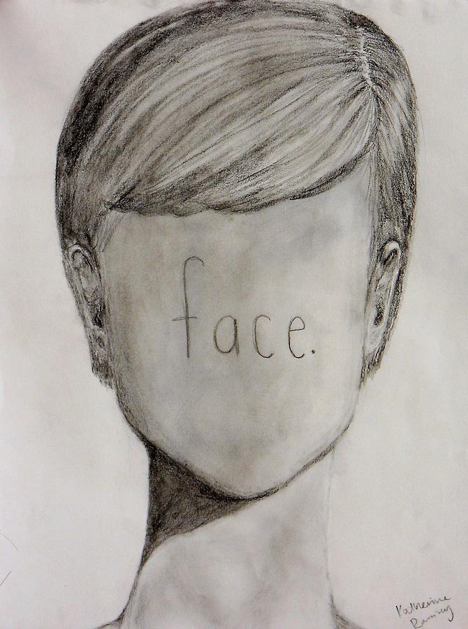 Face Drawing - Face by K Ramsey