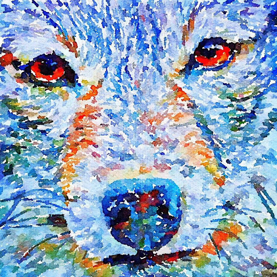 Face of a Wolf by Julius Reque