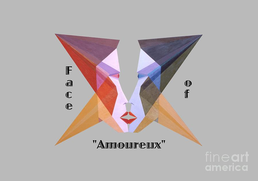 Tarot Painting - Face of Amoureux text by Michael Bellon