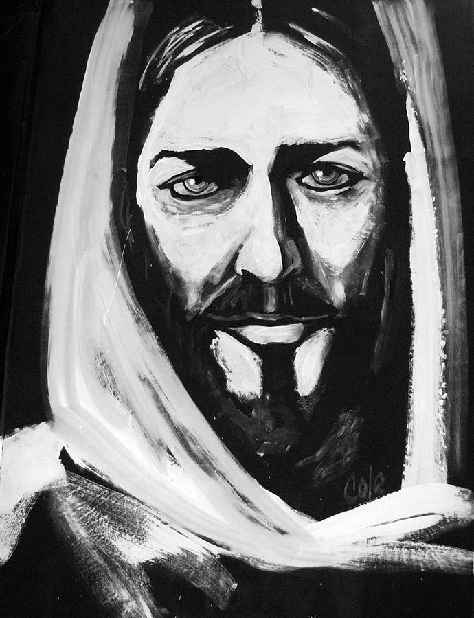 Jesus Painting - Face Of Christ by Larry Cole