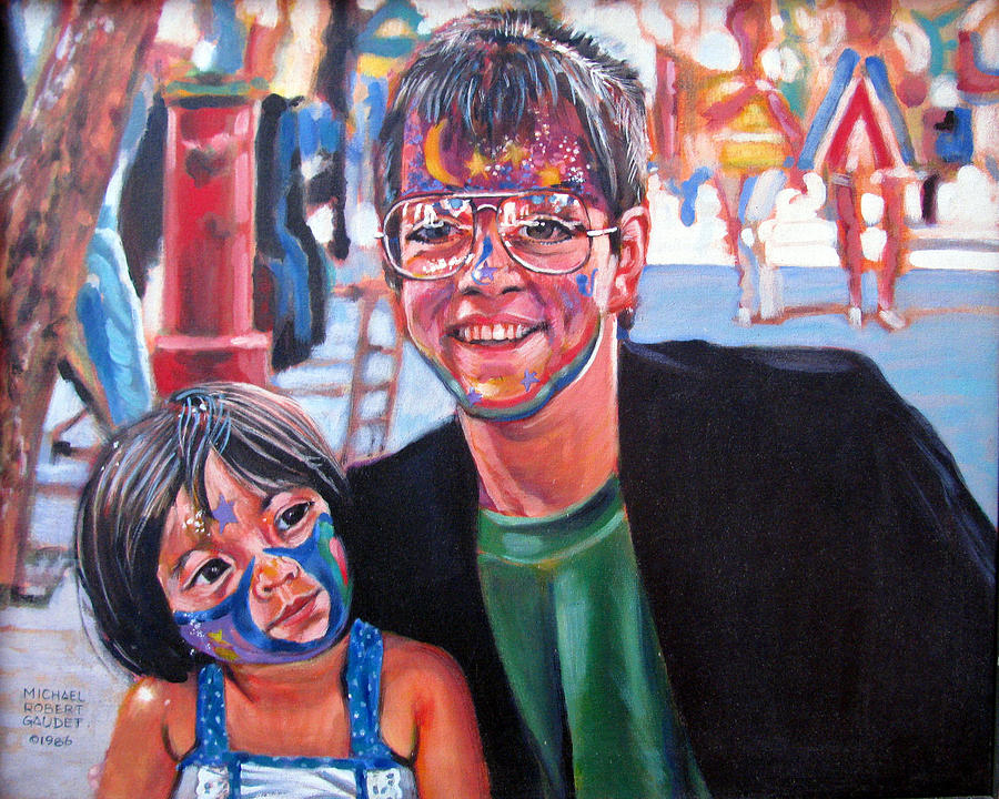 Face Painter Painting - Face-painter by Michael Gaudet