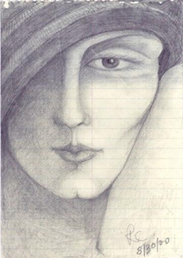 Pencil Drawing Drawing - Face by Rae Chichilnitsky
