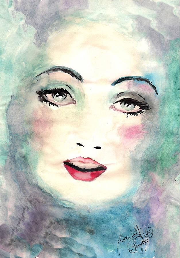 Watercolor Paint Painting - Face Upon The Water by Scarlett Royal