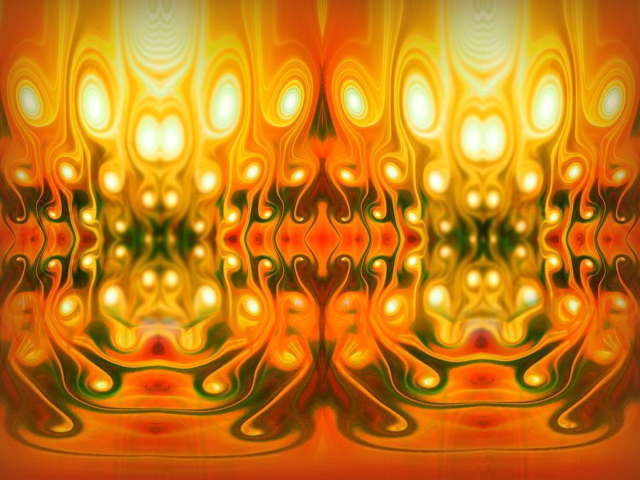 Hell Digital Art - Face Your Demons by Talasan Nicholson