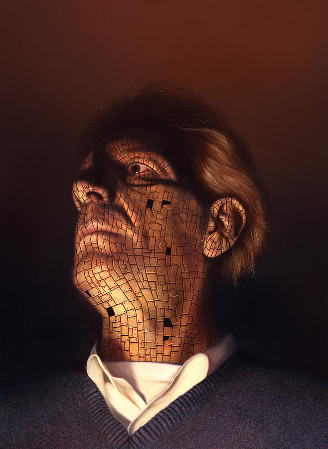Philip Straub Painting - Faceplate by Philip Straub