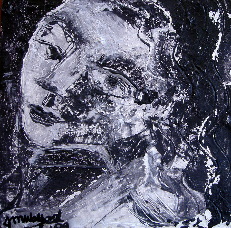 Woman Painting - Faces 5 by Jenni Walford