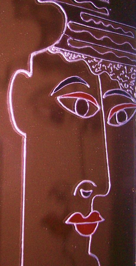 Faces Painting - Faces And Alphabets by Sylvia Hanna Dahdal