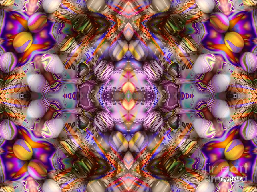 Colorful Digital Art - Faces by Bobby Hammerstone