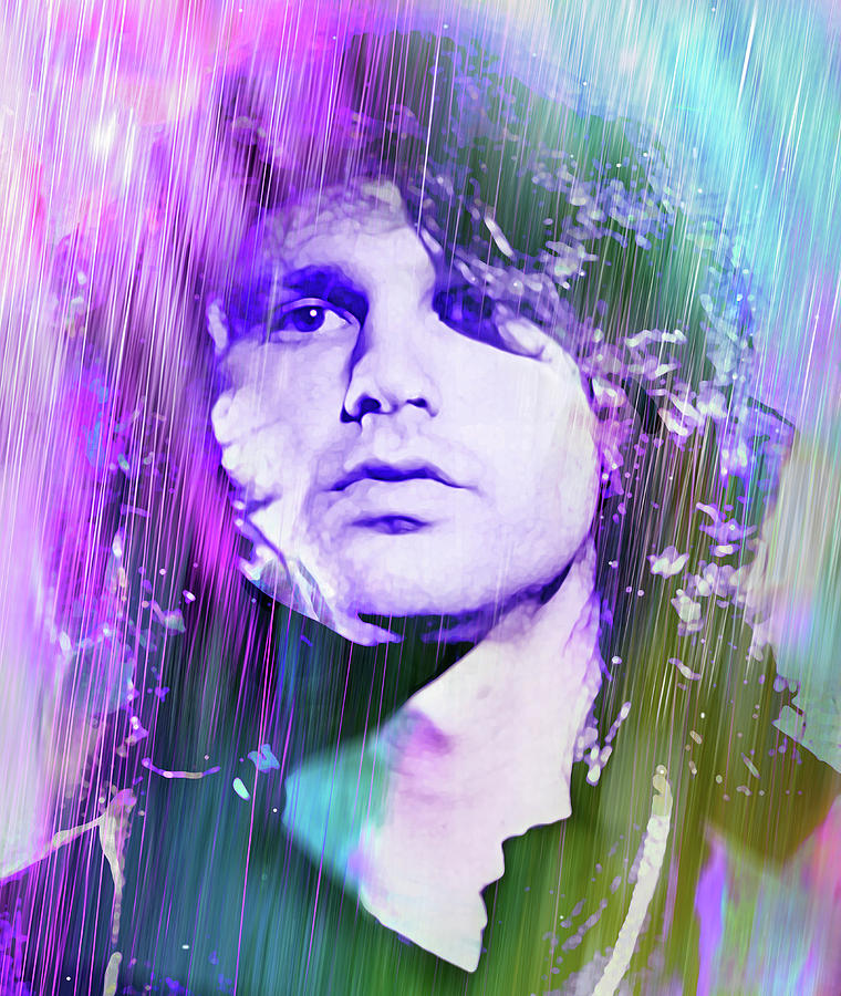 The Doors Digital Art - Faces Come Out Of The Rain by Mal Bray