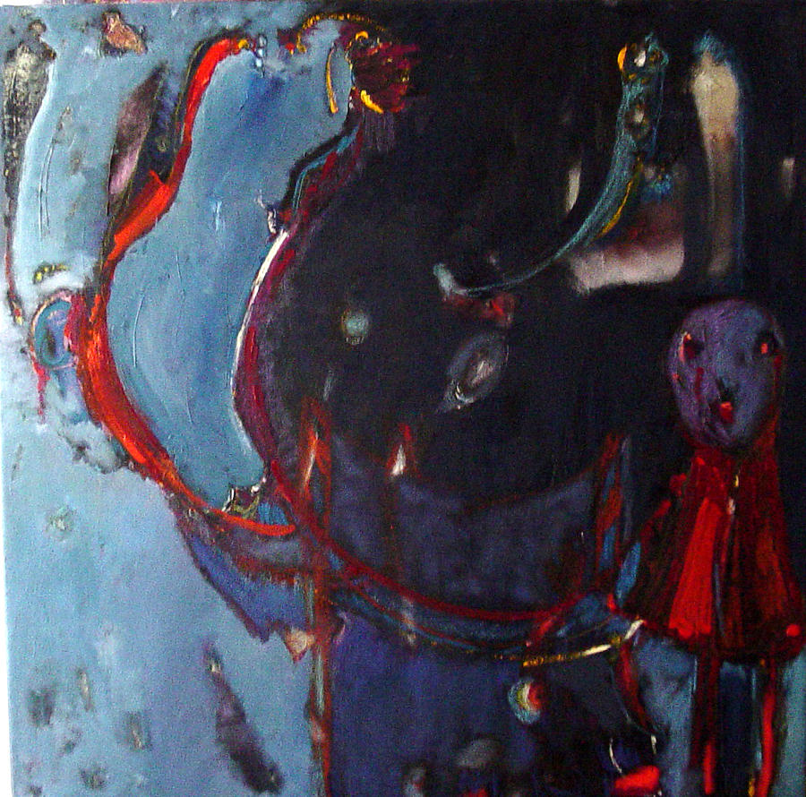 Abstract Painting - Faces From A Nightmare by Elcin  Unal