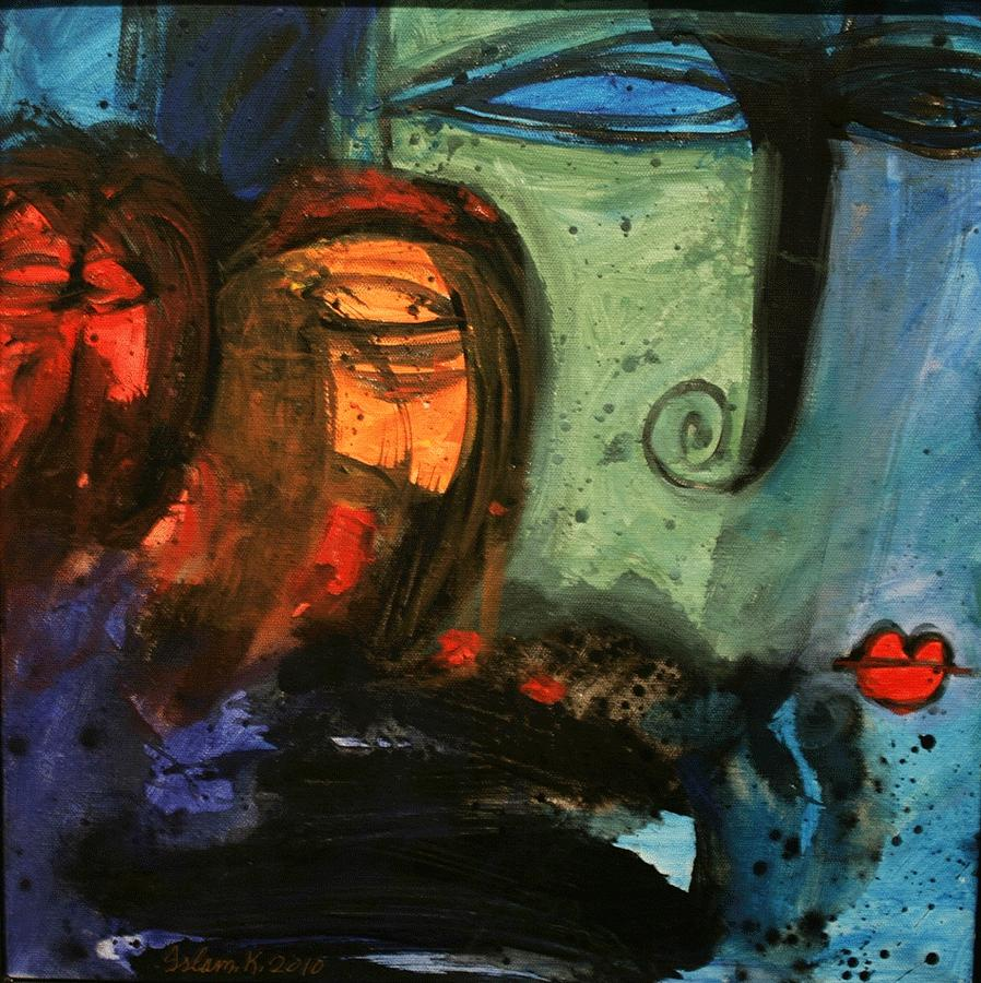 Faces From Memory 100 Painting by Islam Kamil