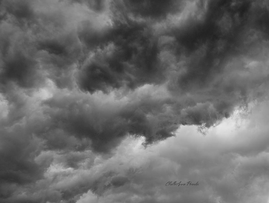 Clouds Photograph - Faces In The Mist Of Chaos by ChelleAnne Paradis