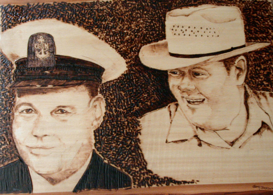 Portrait Pyrography - Faces Of My Father by Guy Jackson