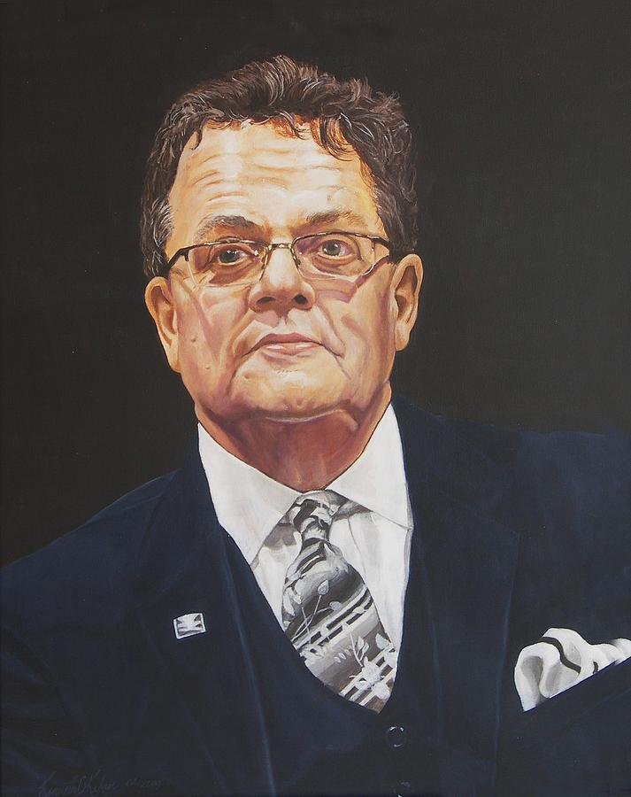 Portrait Painting - Faces Of Oroville - Jim Moll by Kenneth Kelsoe