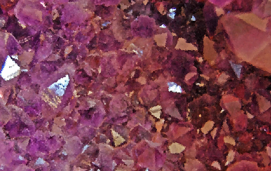 Geode Photograph - Facets by Jean Booth