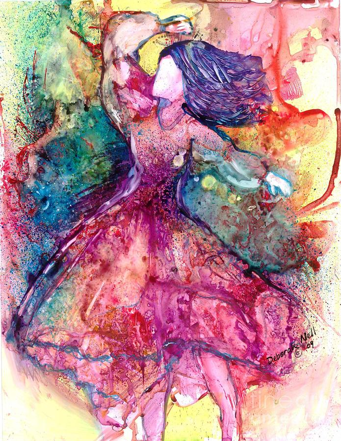Woman Painting - Facing One by Deborah Nell