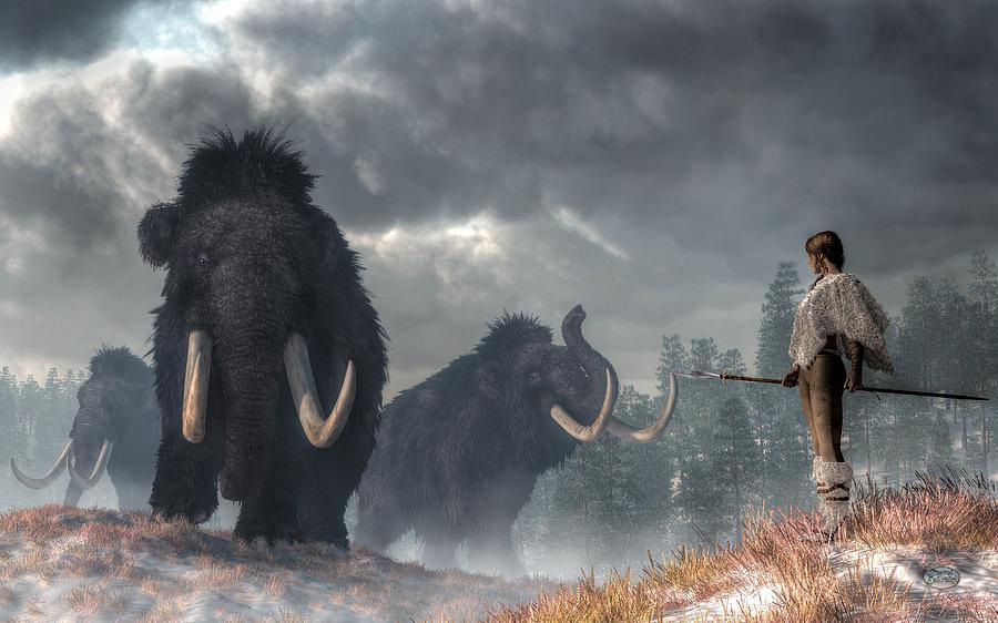 Facing The Mammoths Digital Art