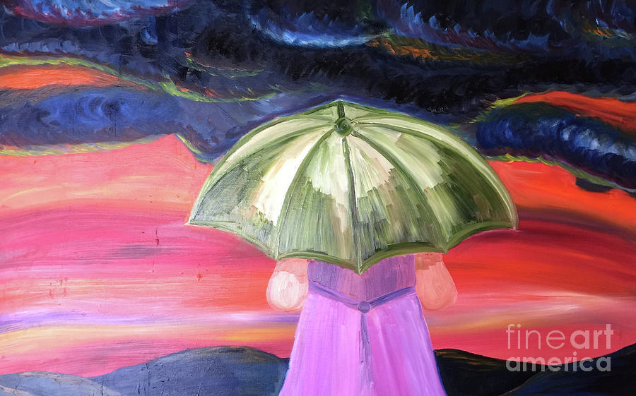 Oil Painting - Facing The Storms by Beth Erickson