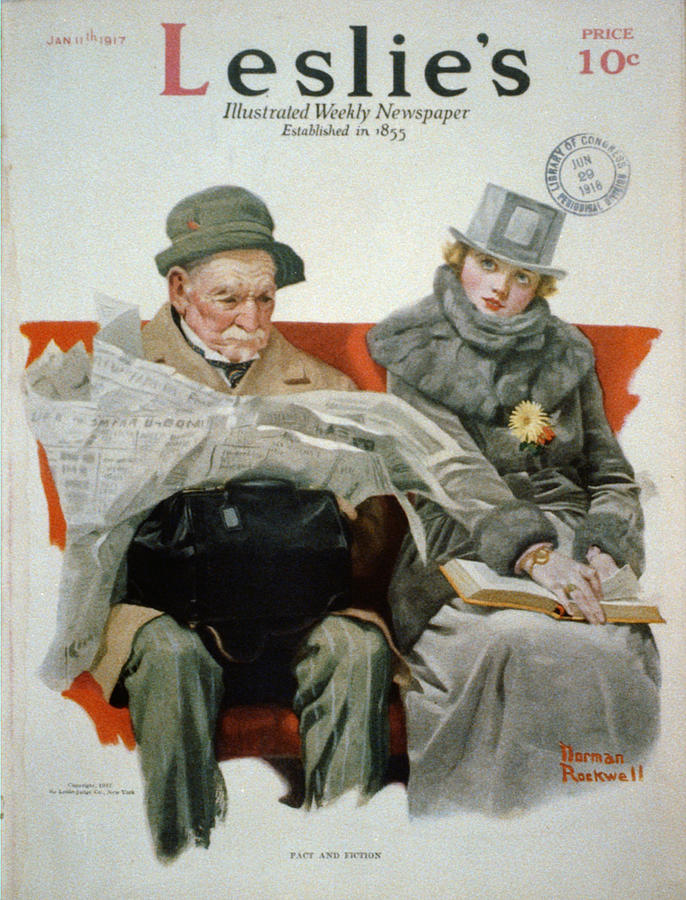 Fact And Fiction Painting - Fact And Fiction by Norman Rockwell