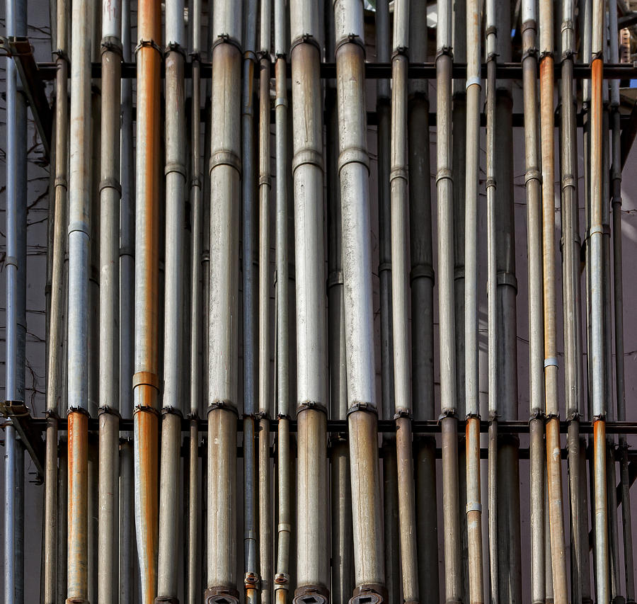 Pipes Photograph - Factory Pipes by Robert Ullmann