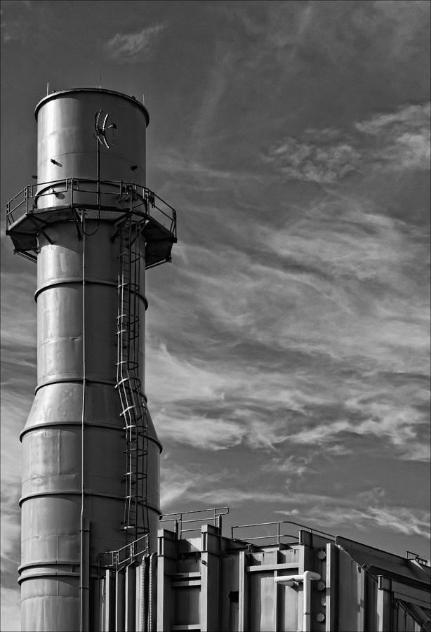 Black And White Photograph - Factory Tower by Robert Ullmann