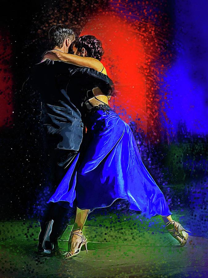 Tango Digital Art - Facundo Pinero And Vanesa Villalba  by Elzbieta Petryka