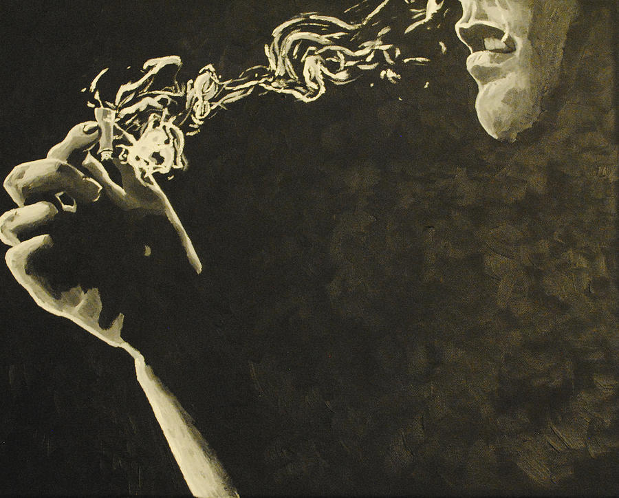 420 Painting - Fade into Darkness by Pedro Lozano