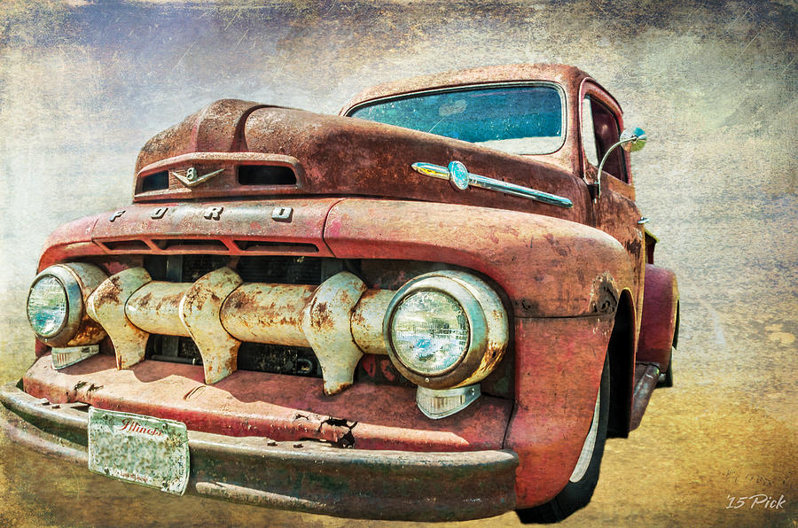 Ford Digital Art - Faded Ford by Tom Pickering of Photopicks Photography and Art