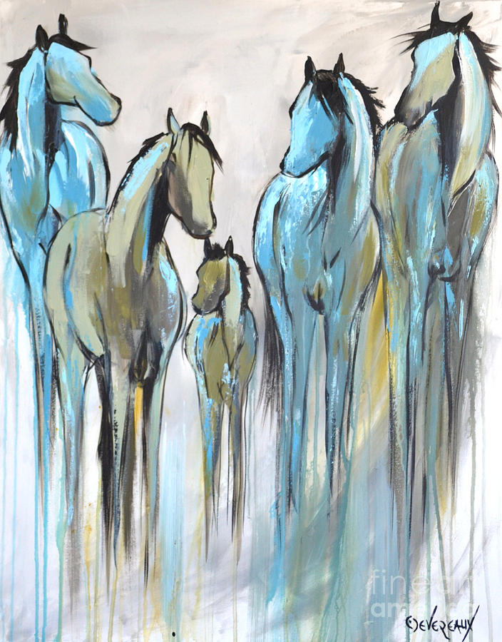 Horse Painting - Fading 2 by Cher Devereaux