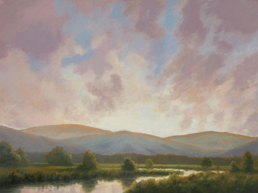 Landscape Painting - Fading Light by Guy Crittenden