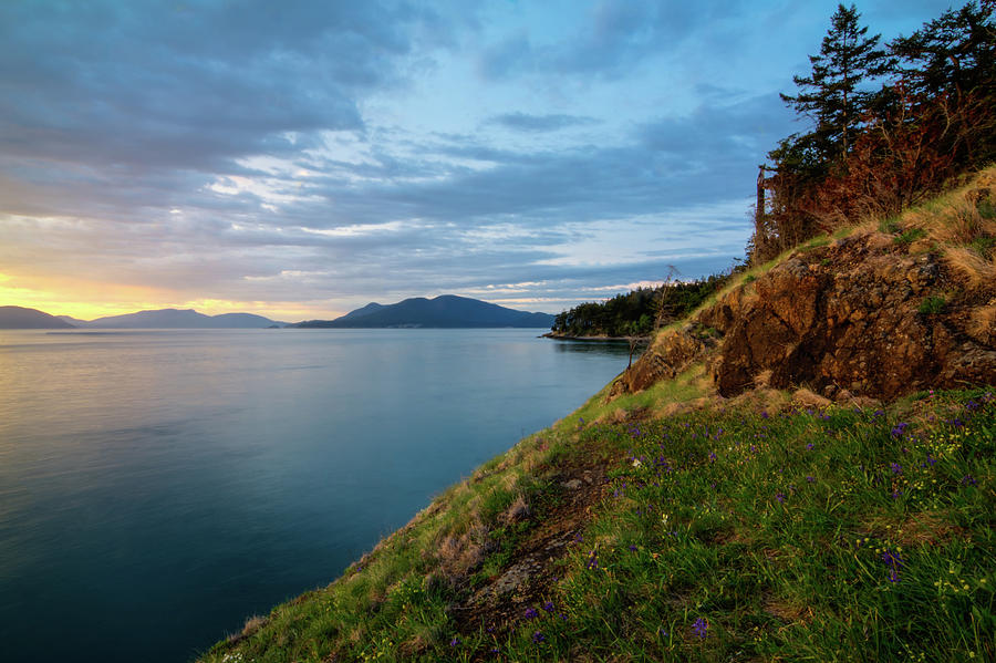 Fading light on fidalgo island photograph by rich leighton for T shirts by design anacortes
