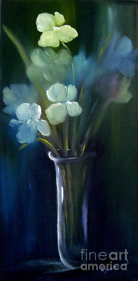 Iris Painting - Fading Memories by Carol Sweetwood