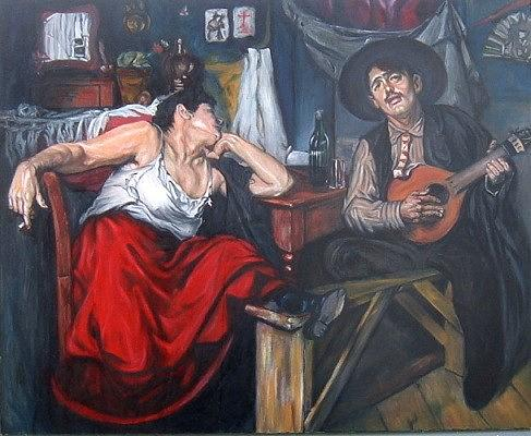 Classical Painting Painting - Fado After Jose Malhoa by Hidemi