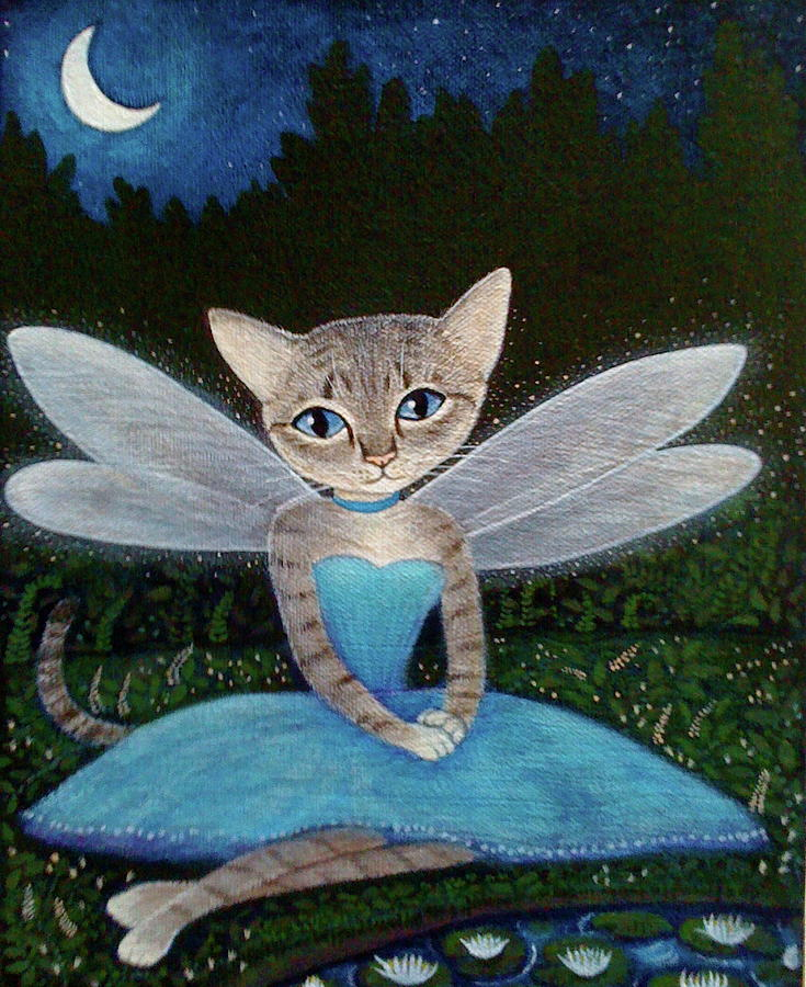 Cat Painting - Fae by Fairy Tails Portraits