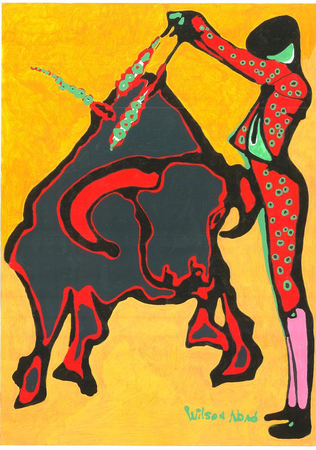 Toros Painting - Faena Taurina by Wilson Abad