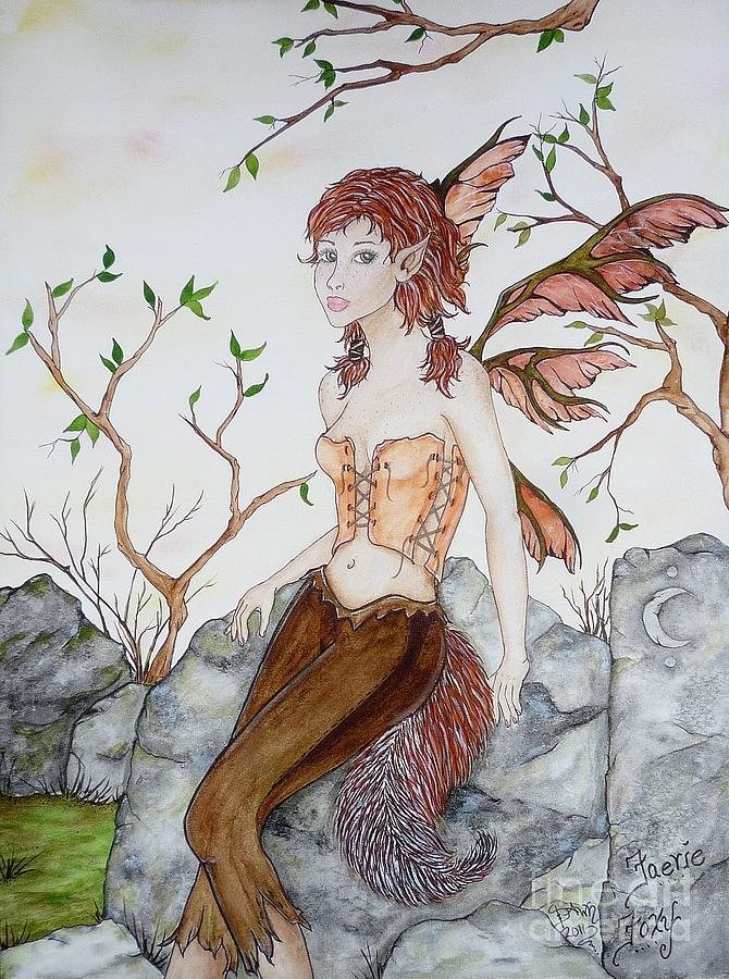Faerie Painting - Faerie Foxy by Dawn Dovell
