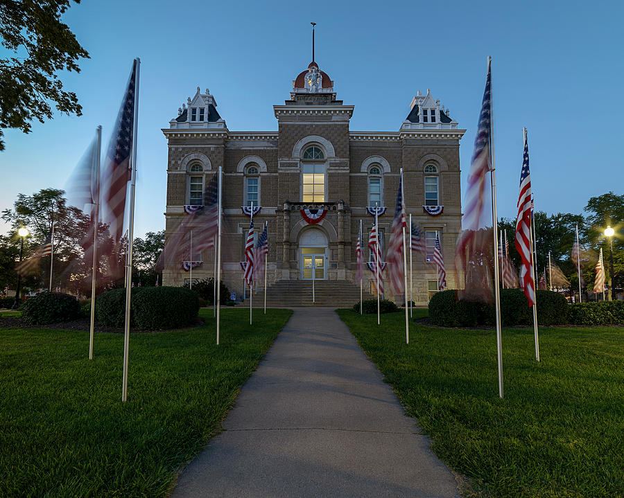 Fairbury Nebraska Avenue of Flags - September 11 2016 by Art Whitton