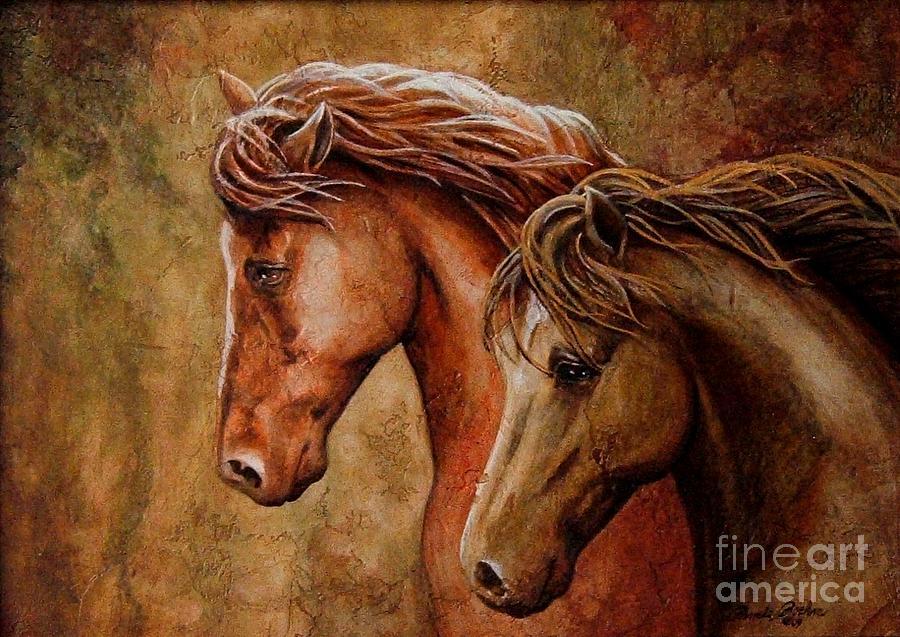 Horses Painting - Faire La Pare by Pamela Roehm