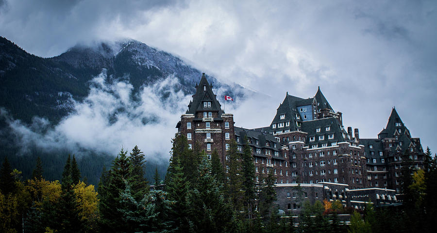 Banff Photograph - Fairmont Springs Hotel In Banff, Canada by Alex Rossi